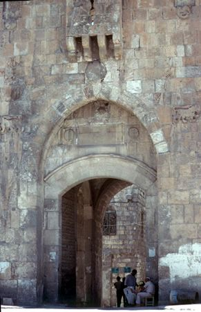 Lions Gate, Jerusalem Through this gate, the Israeli paratroopers broke into the Old City of Jerusalem in the Six-Day War of 1967. only open gate in the eastern wall, and one of the original gates of the sixteenth-century wall encompassing the Old City