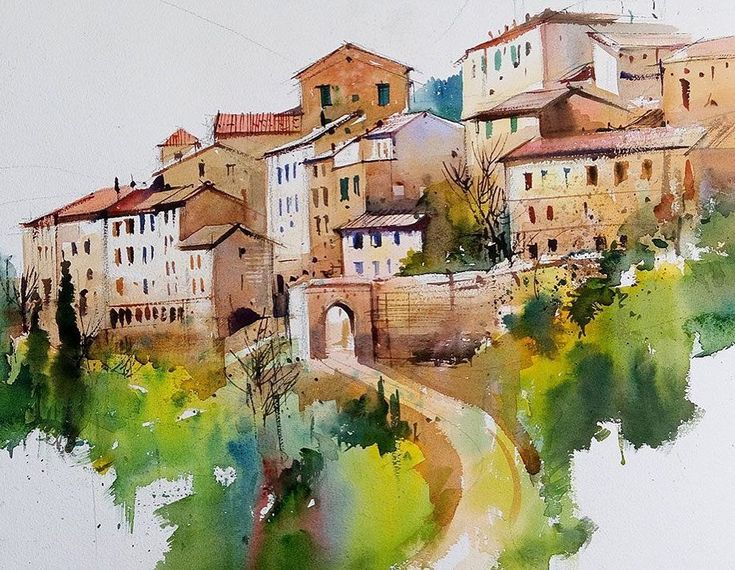 Watercolor by Milind Mullick India. Акварель Милинда Маллика Индия.  #иллюстрация #живопись #искусство #графика #акварель #арт #art #illustration #pencil #drawing #draw #contemporaryart #watercolor #水彩画 #akvarell #aquarell #aquarelle #sketchbook #graphic #timetoart