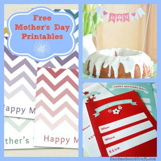 8 free mother's day Printables