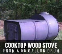 55 gallon drum stove cooktop