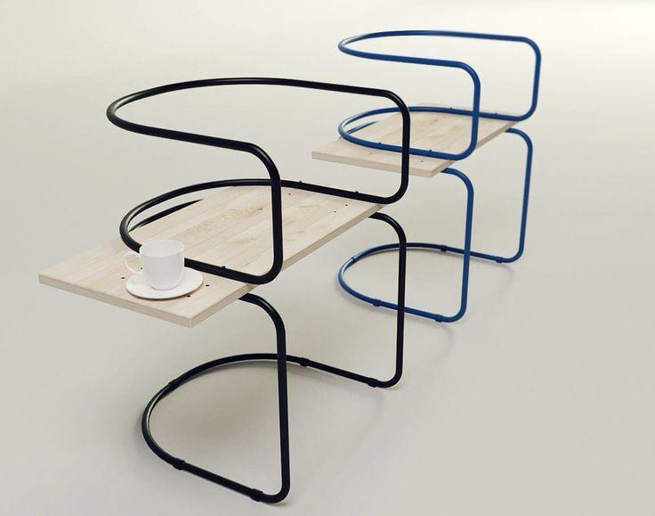 Sergei Kotsepup, designer en provenance d'Ukraine nous présente AIR, son projet de chaise pour pause café.