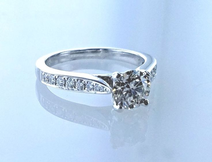 1.38 Carat Solitaire Diamond H VS2 GAL USA Engagement Ring SZ 6.50  Diamonds #LionDiamondsGroup #Solitaire