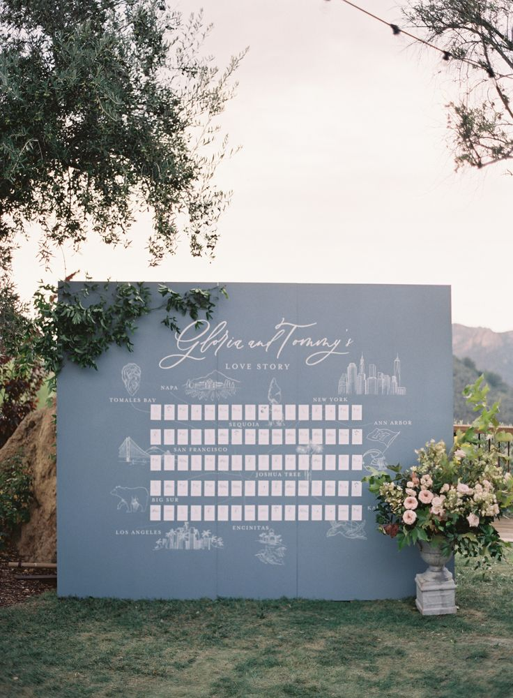 travel inspired seating card display | Photography: Kurt Boomer