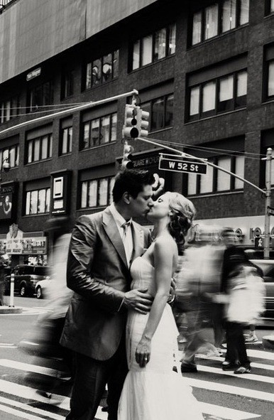 A kiss in NYC