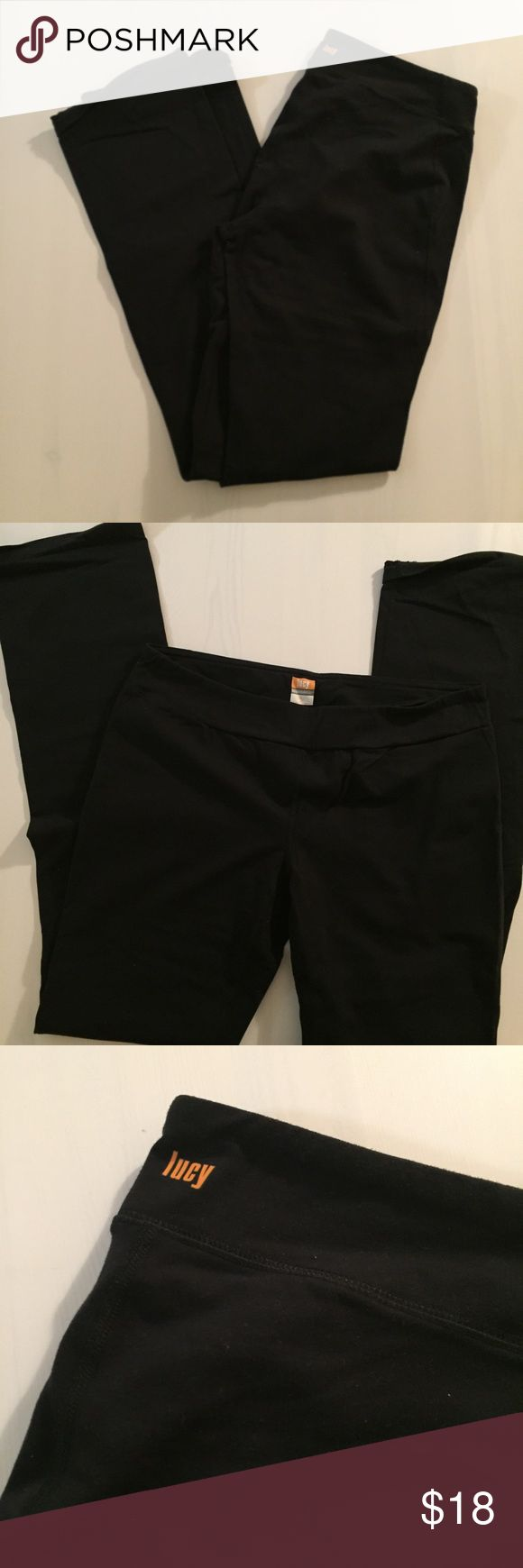 Lucy PowerMax Tall Yoga Pant Lucy PowerMax Tall Yoga Pant. Fitted through the calf - worn but perfect for yoga or running. Small pocket for keys inside the waistband. LOFT Pants Track Pants & Joggers