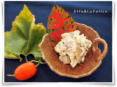 柿の白和え |La Felice 旬菜料理教室