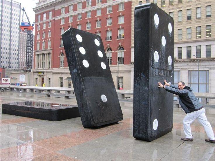 Giant Dominoes at the Board Game Art Park in Philadelphia, PA