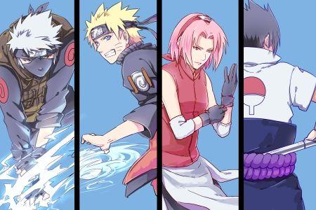 Hatake Kakashi, Uzumaki Naruto, Haruno Sakura and Uchiha Sasuke - Team 7