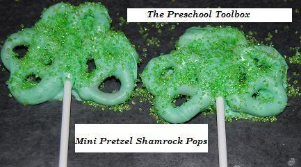 pretzel shamrocks