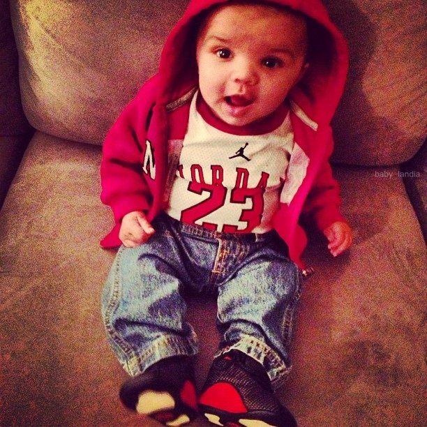 Baby in Jordan's #fashions