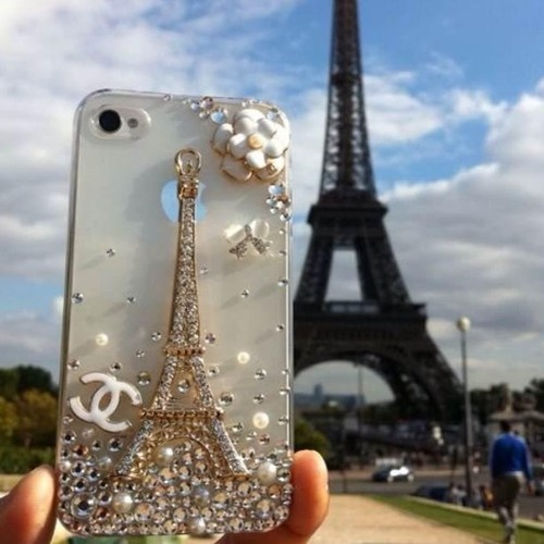 Chanel Paris phone case @Alexandra Gornik thought you would love this, I sure do!