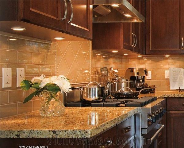 New Venetian Gold Granite Countertop New Venetian Gold Yellow Granite Countertop From Canada