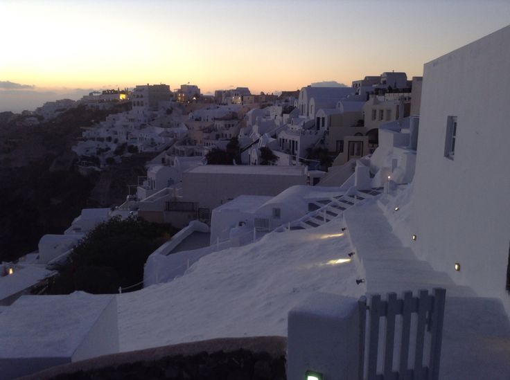 Flooded with whitewashed structures