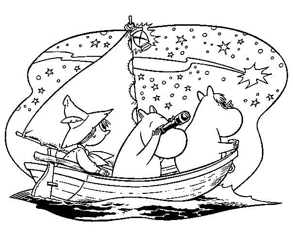 Dibujo para colorear de los Moomins