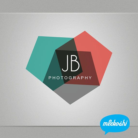 Photography Logo Design - Premade Photographer Logo Design for Photographer. Photography Business Branding - Geometric shapes