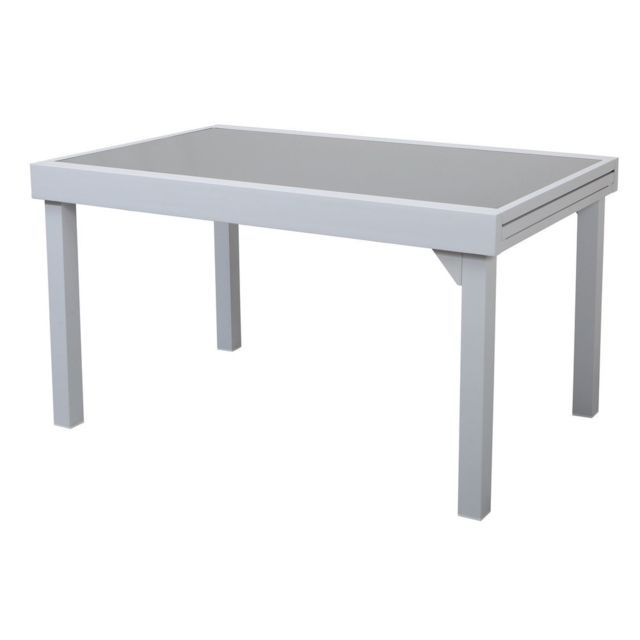 Les Essentiels By Dlm Table De Jardin Extensible Aluminium Double
