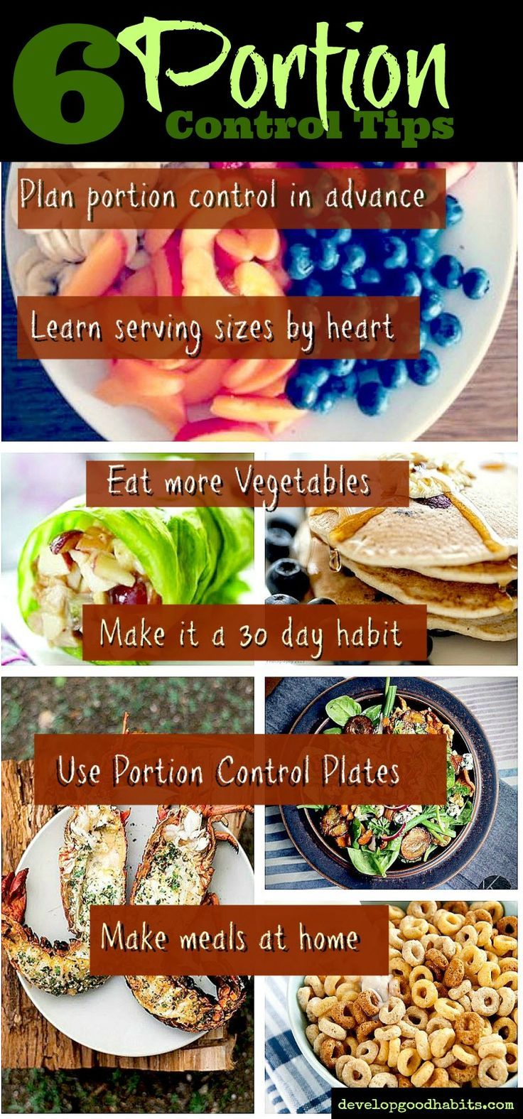 Think Portion Control: Diets don't really work that well long term.  Sensible eating will do you a lot better than any diet ever could.  These few sensible eating and portion control tips could be more valuable than any popular diet.  www.developgoodha...