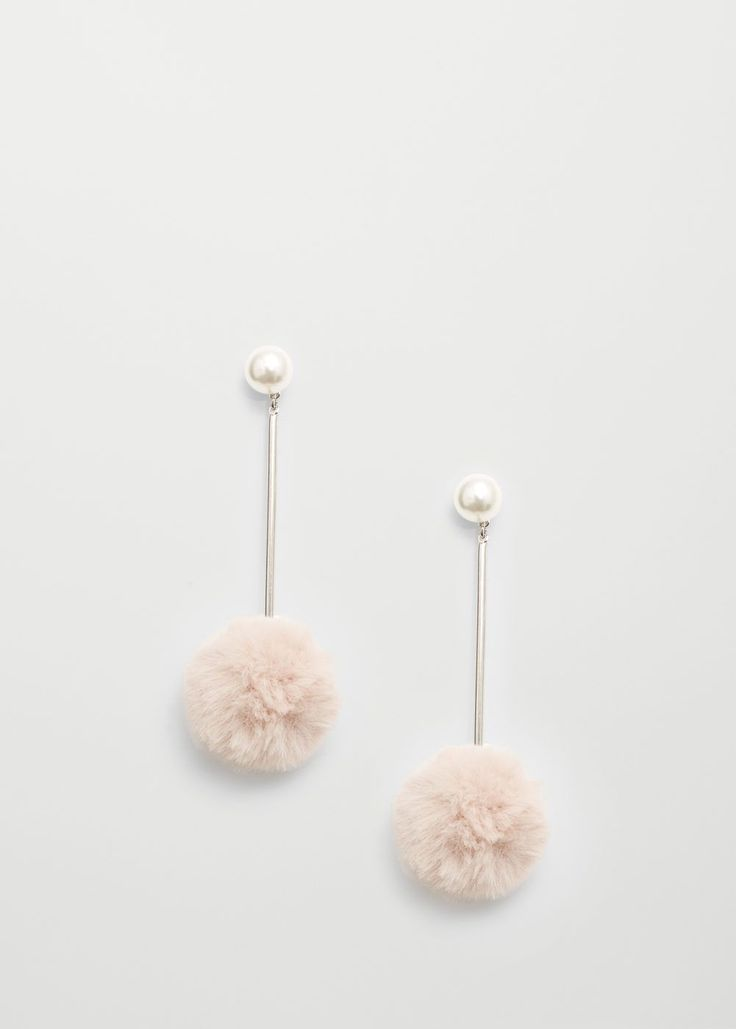Pompom earrings - Jewellery for Woman | MANGO USA
