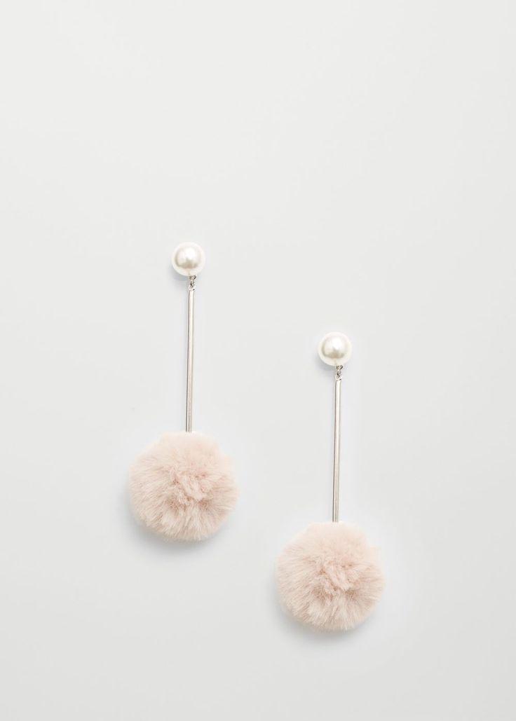 MANGO pompom earrings