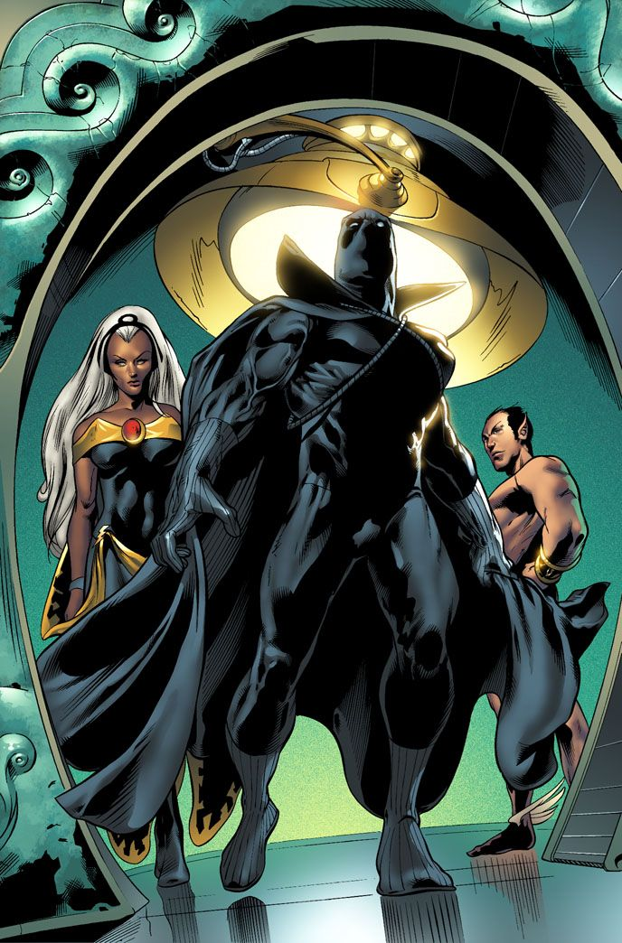 Black Panther and Storm (Namor in the background)