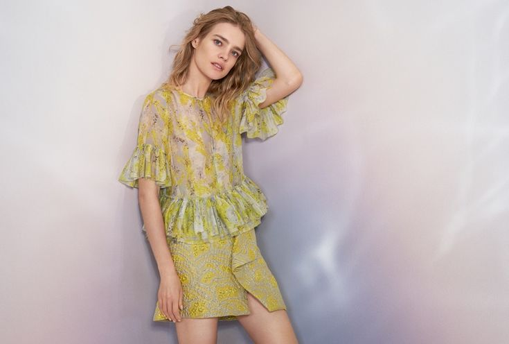 H&M Conscious Exclusive Lyocell-Blend Blouse $59.99 and Jacquard-Weave Skirt $59.99