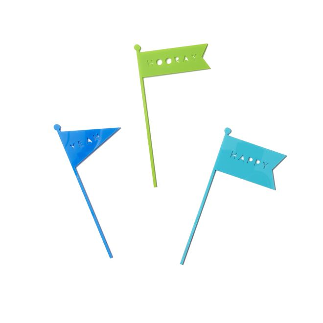 Woohooo! Fly these Poppies For Grace Flag Cake Toppers on your cake to celebrate that special someone's party!  They look great and are re-usable!  Little Boo-Teek - Boutique Kids Party Supplies   Cake Decorations   Designer Party Decorations Online