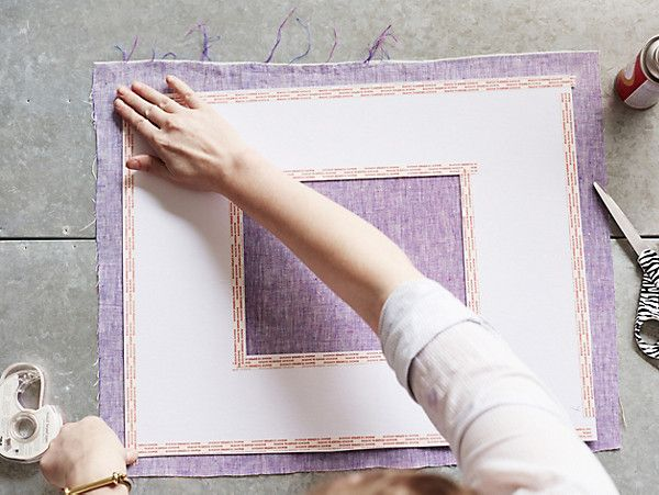 Creating custom fabric-covered picture mats is simpler than wrapping a gift! Special...