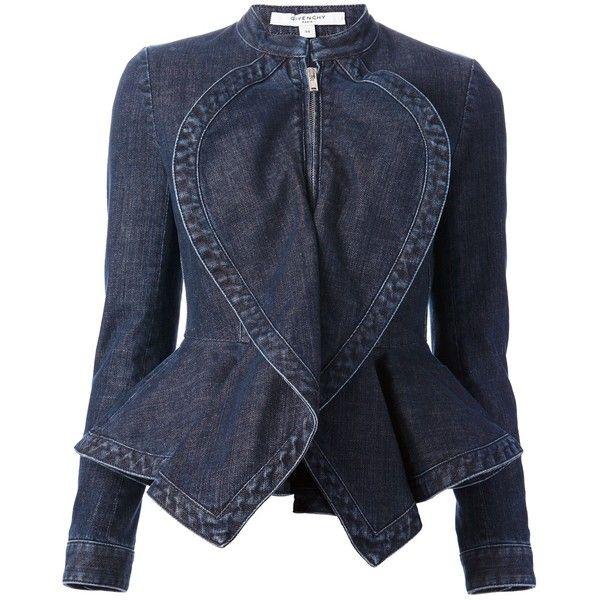 GIVENCHY denim peplum jacket found on Polyvore