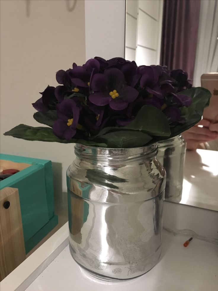 Kavanozdan cam görünümlü vazo