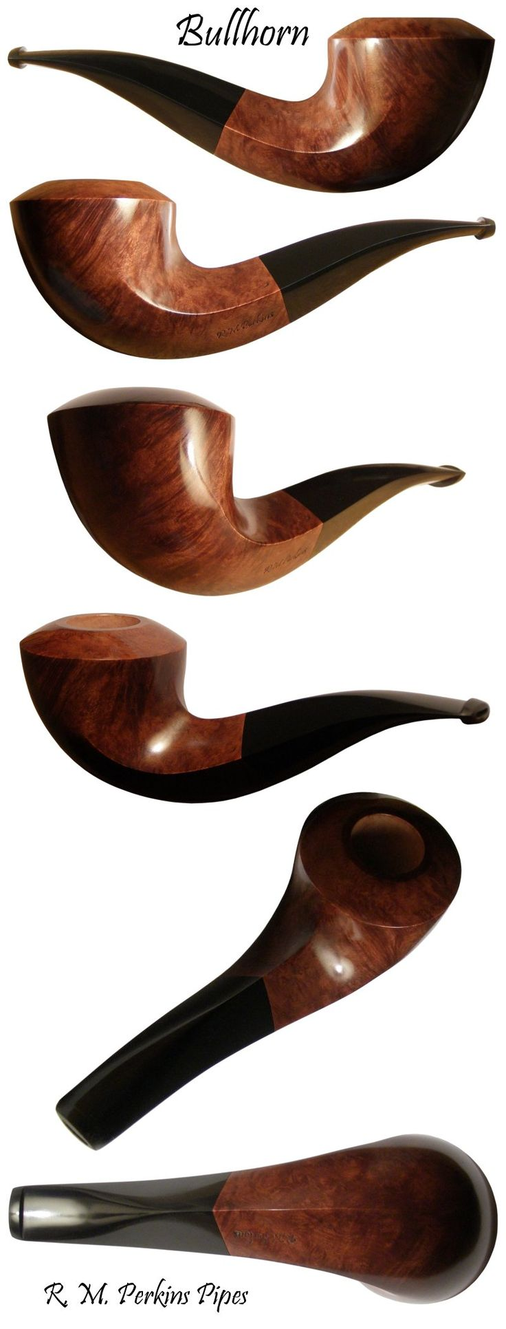 Handmade Bullhorn tobacco smoking pipe