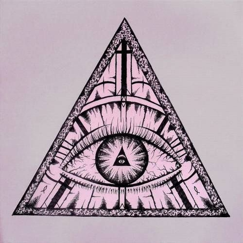 Drawing Lines With Triangle Combination : Eye drawing illuminati triangle draw a curved