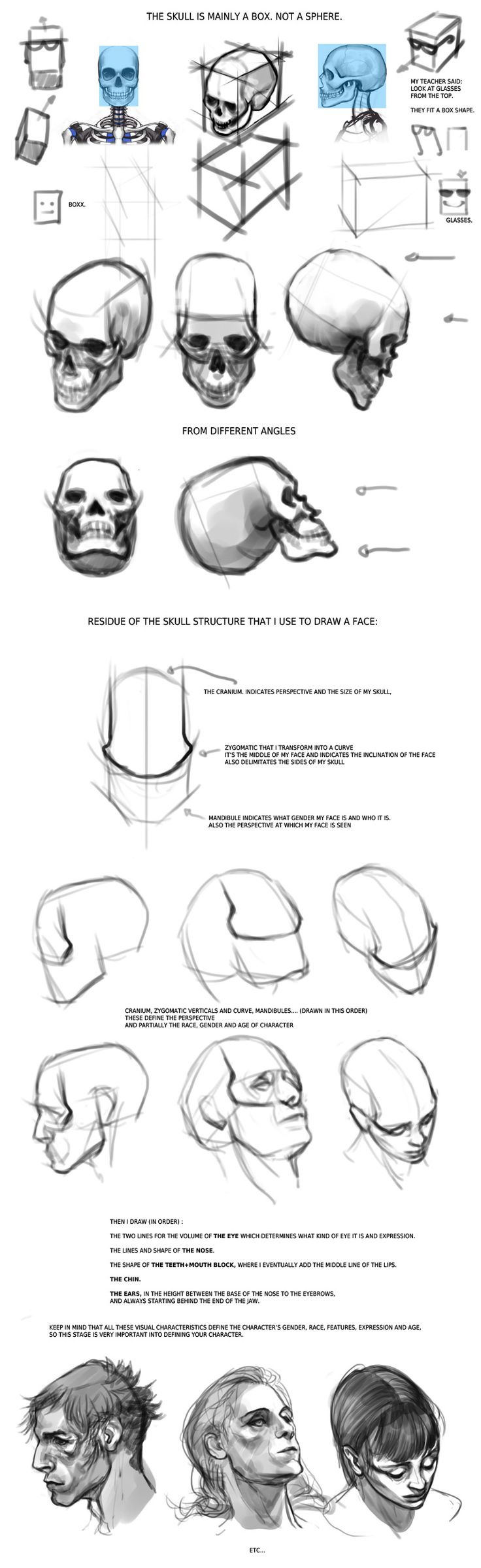 facial anatomy tips ✤ || CHARACTER DESIGN REFERENCES | Find more at https://www.facebook.com/CharacterDesignReferences if you're looking for: #line #art #character #design #model #sheet #illustration #expressions #best #concept #animation #drawing #archive #library #reference #anatomy #traditional #draw #development #artist #pose #settei #gestures #how #to #tutorial #conceptart #modelsheet #cartoon