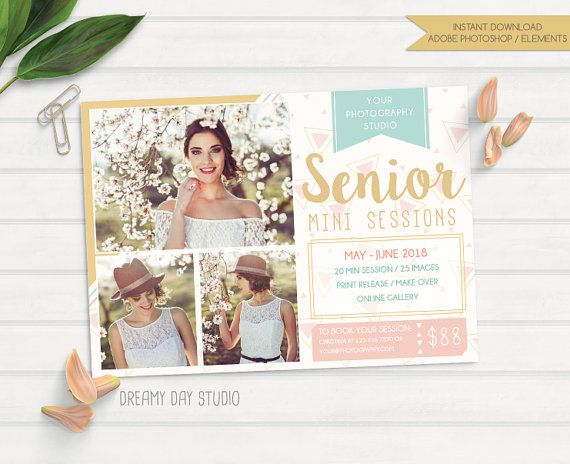 senior mini session, mini session, mini session template, graduation mini session, mini session template for photographers, PSD, Photoshop by dreamydaystudio