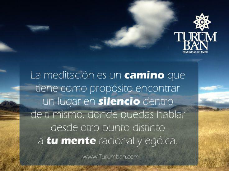 La meditación es un camino que tiene como propósito encontrar un lugar en silencio dentro de ti mismo, donde puedas hablar desde otro punto distinto a tu mente racional y egóica.  www.Turumban.com