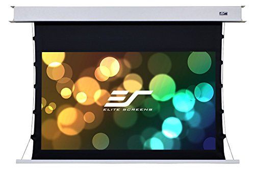 Elite Screens Evanesce Tab-Tension B, 92-inch 16:9, Recessed In-Ceiling Electric Projection Projector Screen, ETB92HW2-E12