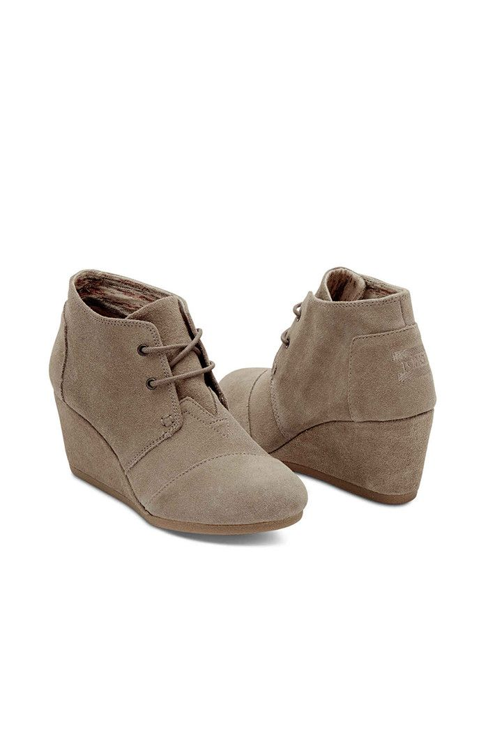 Taupe Suede Desert Wedge