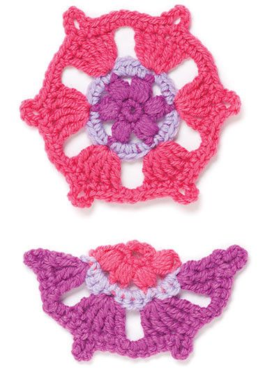 The designer, Ellen Gormley, also included half motifs which are used to fill in the spaces and add shape. The motifs can be stitched together to create all kinds of projects from a coaster or washcloth to a wrap or afghan. As an extra bonus, we have included symbol crochet for each motif and project. The four projects include a scarf, hat, cowl and a blanket. http://www.maggiescrochet.com/products/marvelous-crochet-motifs