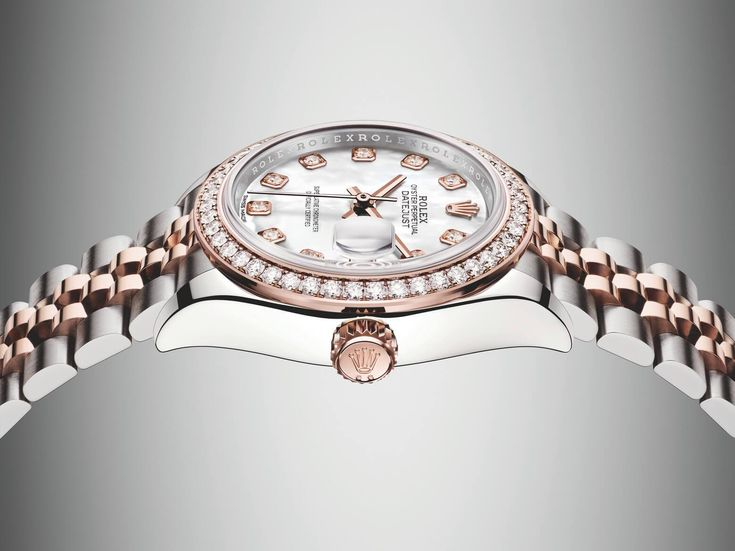 The two-tone rose gold and stainless steel Lady-Datejust 28 is the latest model to join the most popular collection of Rolex women's watches.