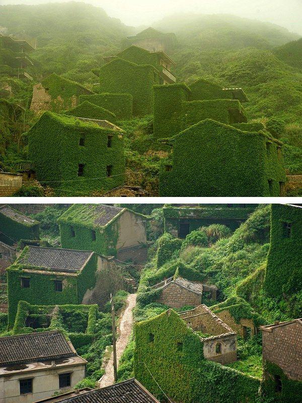 Abandoned village in Shengsi County's Gouqi island, in Zhoushan, China   Photo by 唐 宇宏