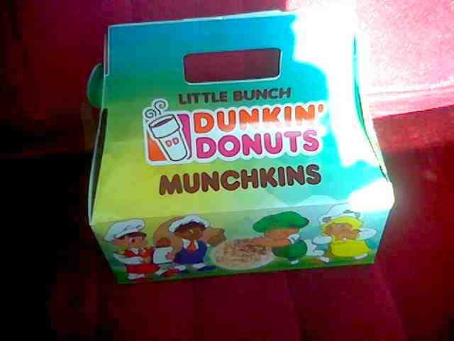 donkin donuts assorted munchkins <3