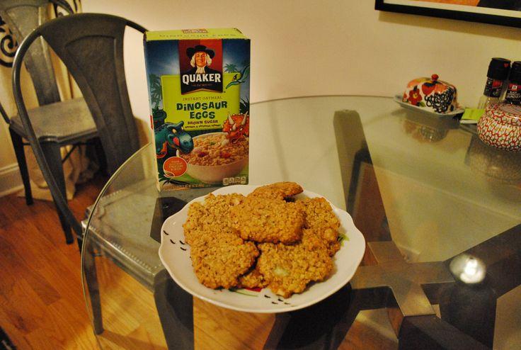Dinosaur Egg Oatmeal Cookies