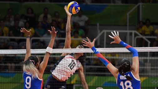 """"""" USA  vs Puerto Rico, Women's Volleyball Action """" ..."""