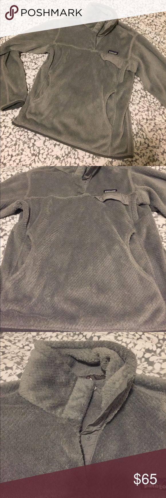 FLASH SALE!! Gray Patagonia Fleece Pullover Lightly worn but no major signs of use. This light gray Patagonia fleece pullover is perfect. Patagonia Jackets & Coats