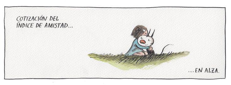 Liniers, seudónimo de Ricardo Siri (Buenos Aires, 15 de noviembre de 1973), es un historietista argentino conocido por ser el autor de Macanudo. #Humor