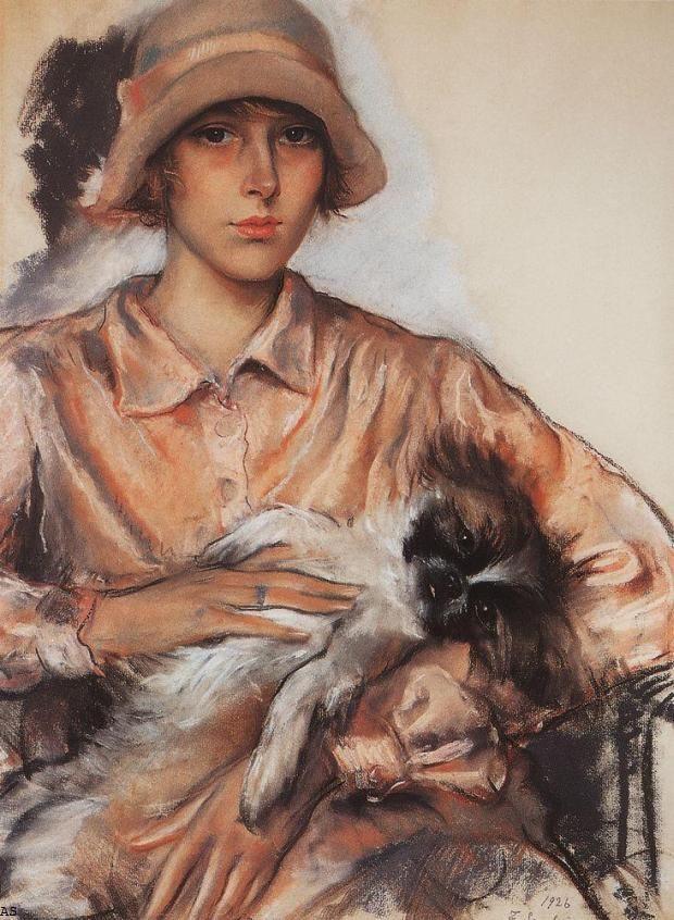 Zinaida Serebryakova.Portrait of a lady in pink. Ida Whelan. (1926).Зинаида Серебрякова.Портрет дамы в розовом. Ида Велан (1926) /Школа стильных образов и идей