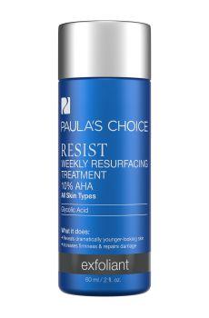 RESIST Weekly Resurfacing Treatment with 10% Alpha Hydroxy Acid für alle Hauttypen. Außergewöhnliches Behandlungsmittel lässt die Haut über Nacht jünger aussehen und mindert Falten und lässt die Haut langsamer altern.