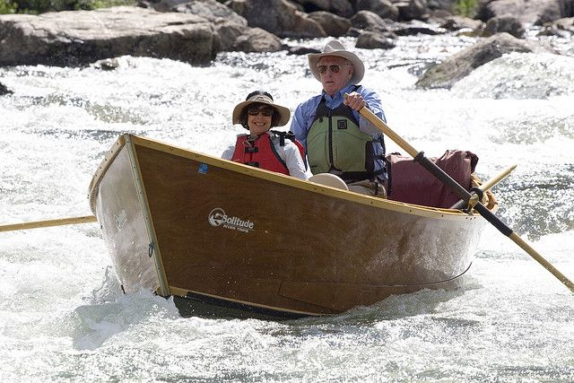 Al rows Joanne Sulpher Slide Rapid  Middle Fork Salmon River 7/09  http://www.shastatrout.com/