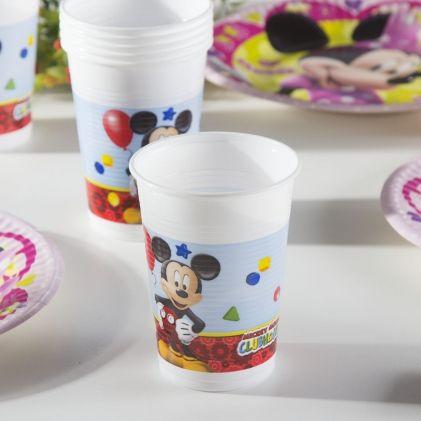Kubki jednorazowe dla dzieci MICKEY MOUSE PLAYFULL 8 szt.