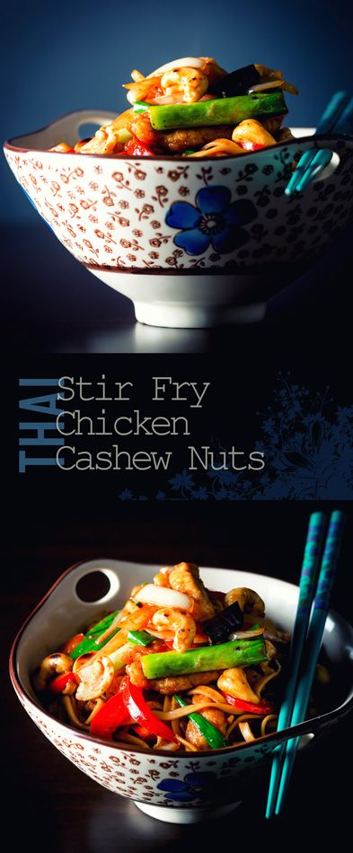 Thai Style Stir Fry Chicken with Cashew Nuts Recipe: This Thai Style Stir Fry Chicken with Cashew Nuts is a super quick, hot, sour, sweet and salty stir fry with little hints of Thailand.