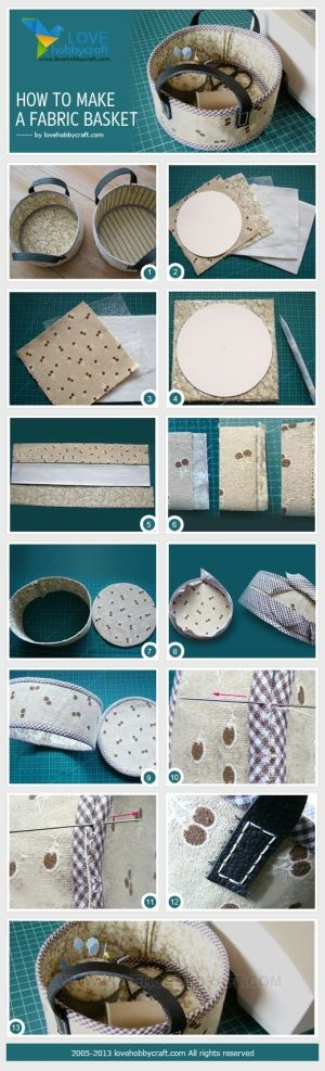 How to make a fabric basket by Ada123